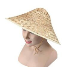 Chinese Straw Coolie Hat Oriental Chinaman Chinese New Year Fancy Dress