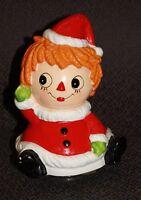 Vintage Ceramic Berman & Anderson Raggedy Ann Christmas Music Box free shipping