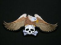 Eagle 3 Colours Skull XL Aigle  ecusson brodé patche Thermocollant  iron-o patch