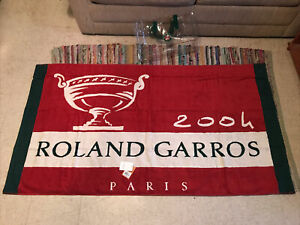 "2004 Roland Garros PARIS Player Tennis Towel Carréblanc UNIQUE & RARE! 71"" x 38"""