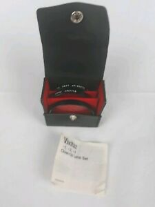 VIVITAR48mm Screw-In Close-Up Filter Set- 3 Lenses (+1,+2,+4) includes case