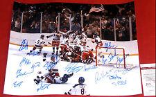MIRACLE ON ICE 1980 USA HOCKEY AUTOGRAPHED 16X20 PHOTO CRAIG ERUZIONE OLYMPIC JS