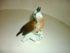 ANCIENNE  PORCELAINE SAXE Oiseau  Signe Karl ENS Art