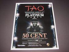 50 Cent Platinum Party Live Rap Music Vegas Event 15x12 Matted Art Poster NEW