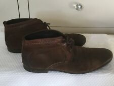 Mens BASE LONDON Brown Distressed Suede Boots 41 (7) Casual