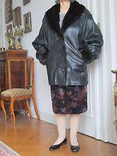 Damen Leder Jacke mit Nertz Kragen Made in Spain