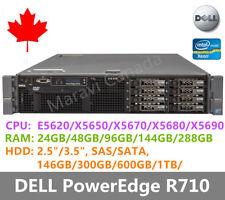 """DELL PowerEdge R710 Server 2x E5620 48GB RAM 6x 600GB SAS 2.5"""" H700 Raid 2x870W"""