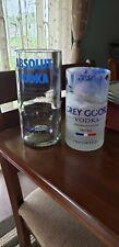 Grey Goose Vase/tip jar..set