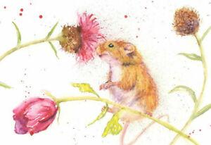 Fine Art Print of MOUSE original watercolour by HELEN APRIL ROSE   629