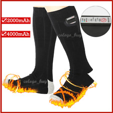Electric Heated Socks Boot Feet Warmer USB Rechargable Battery Sock Wintersport@