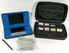 Nintendo DSi XL Console Midnight Blue+Charger+7 Game Lot-Harry Potter/Disney