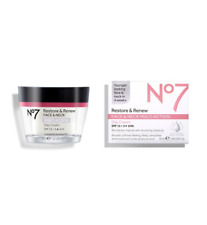 No7 Restore & Renew FACE & NECK MULTI ACTION Day Cream 50ml SPF15 -5*UVA