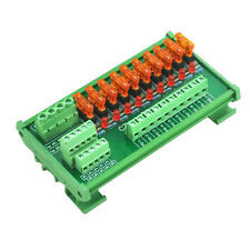 DIN Rail Mount 10 Position Power Distribution Fuse Module Board, For AC/DC 5~32V