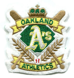 "OAKLAND A'S MLB BASEBALL 3.5"" CROSSED BATS CREST LOGO TEAM PATCH"