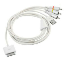 AV Composite Video to TV-RCA USB  Cable Charger for  iPhone 4S 4 iPad 3 2 Touch