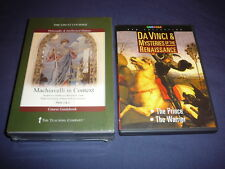 Teaching Co Great Courses DVDs       MACHIAVELLI  IN CONTEXT       new + BONUS