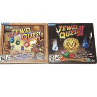 Jewel Quest 1 & 2 I II PC CD-ROM Game Lot NEW Cosmi Mumbo Jumbo iWin Match 3