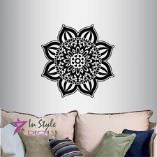 Vinyl Decal Indian Mandala Flower Pattern Ornament Yoga Room Wall Sticker 96