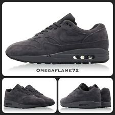 "Nike Air Max 1 Premium Suede, ""Anthracite""  875844-010, Sz UK 8, EU 42.5, US 9"