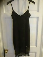 LOVELY LADIES HEAVEN BLACK PARTY evening DRESS SEQUIN DETAIL M/L SIZE 10-12