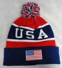 New listing Usa Team Beanies Flag Winter Olympics Toboggan American Patriotic Colors Hat