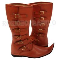 Medieval Leather Boots, Renaissance Pirate Shoes NBV567