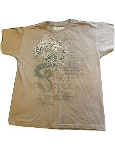 Helix Graphic T-shirt Skater Youth Sz XL Brown Dragon Print