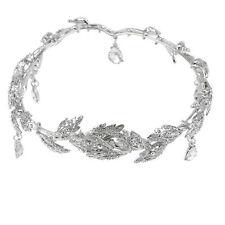 Elegant Bridal Rhinestone crystal prom hair chain forehead band Headpiece WE