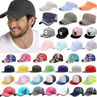 5ae80c828a2eb Mens Womens Golf Baseball Sports Adjustable Snapback Cap Trucker Hat Curved  Hats