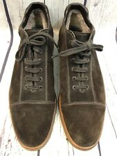 MEN'S Star Artioli Brown Suede Vibram Shearling Lined Lace Up Oxfords 8.5