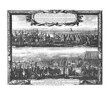 Antique map, Repraesentatio actus quo Polonicus strategus princeps Coniespolsciu