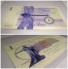 Mujand 1 Spatny fantasy money test note specimen private issue banknote