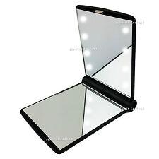 Black Ladies Handbag Cosmetic Mirror Double Sided Compact Vanity Make Up 1005BK