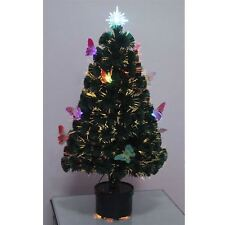 2ft -60cm Christmas tree Fiber Optic Pre-Lit xmas tree with Butterfly LED Lights