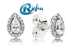 New Genuine Pandora Sterling Silver Radiant Teardrops Stud Earrings 296252CZ