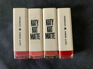 (4) Covergirl Katy Perry Katy Kat Matte Lipstick Sealed Unique Colors No Repeats