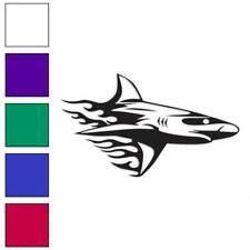 Shark Flames Splash Decal Sticker Choose Color + Size #1378