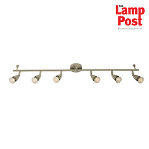 Saxby Amalfi 61003 - 6 Light Spotlight Bar Ceiling Mounted Satin Nickel