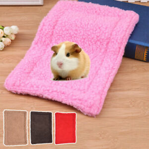 Hamster Guinea Rabbit Bed Pad Puppy Pet Soft Plush Cushion Mat For Small Animal