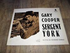 gary cooper SERGENT YORK  scenario dossier presse cinema