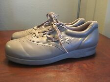 SAS Freetime Taupe Leather Low Heel Comfort Oxfords Women's Shoe Size 7.5 M
