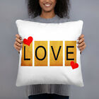 Basic Pillow Love. Perfect Sofa pillow with Love design like scarabeo letters