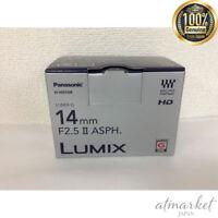 Panasonic Lumix G 14mm f/2.5 II Aspherical II Lens for Micro Four Thirds JAPAN