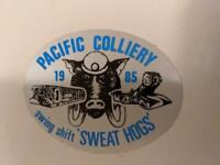 Retro Mining Sticker - Pacific Colliery - Swingshift Sweathogs 1985