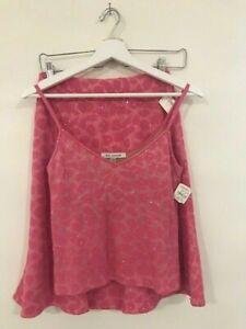 NWT St. John evening 2 pcs set suit skirt size 2 + top size P rose knit Made USA