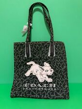 New Disney Springs X Coach 101 Dalmatians Leather/Canvas Tote—Rare