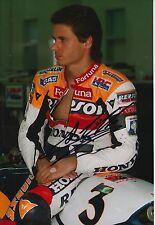 Alex Criville Hand Signed Photo 12x8 Repsol Honda MotoGP 4.