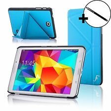 Piel Azul Origami funda para Tablet Samsung Galaxy 4 8.0 T330 + Lápiz óptico