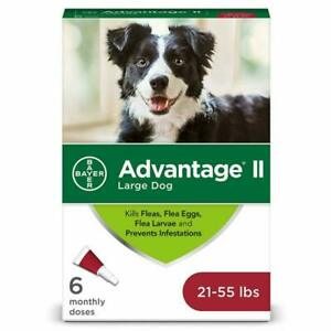 Advantage II 6-Dose Large Dog Flea Prevention Topical Flea Treatment for Larg...
