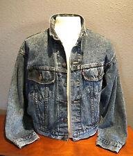 Levi-Mens Vintage Denim Trucker Jean Jacket Usa 70598 4865 Blue Mens Small Euc